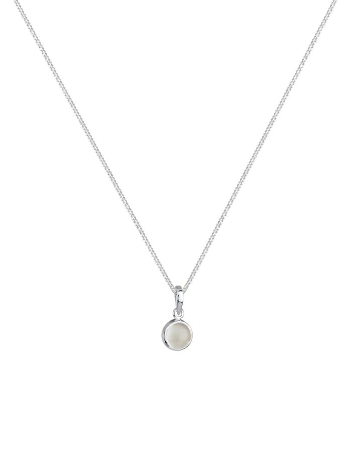 Halskette Mondstein Gemstone Natur 925 Sterling Silber