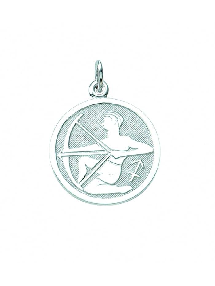 1001 Diamonds Damen & Herren Silberschmuck 925 Silber Sternzeichen Anhänger Schütze Ø 15,7 mm, silber