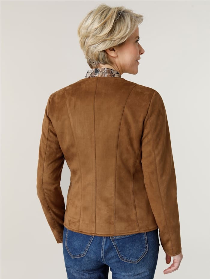 Jacket made from soft faux suede