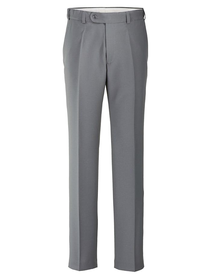 Roger Kent Pantalon avec élastique sous ceinture, Gris