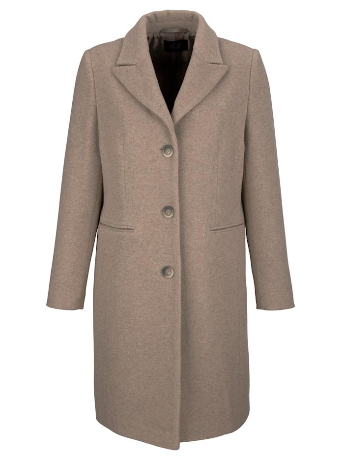 Manteau en laine en coton recyclé