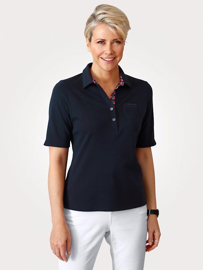 Rabe Poloshirt aus reiner Baumwolle, Marineblau/Rot