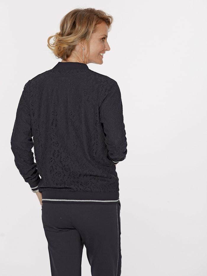 Veste à dentelle devant et dos