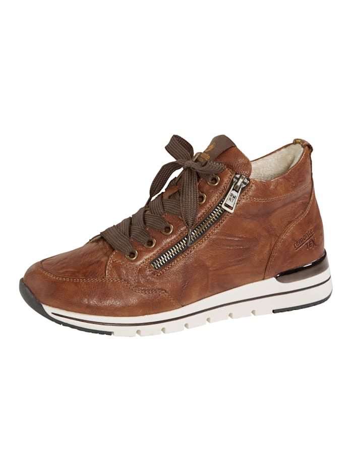 Remonte Lace-up ankle boots in a premium design, Cognac