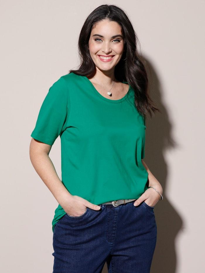 MIAMODA Shirt mit Rundhalsausschnitt, Grün