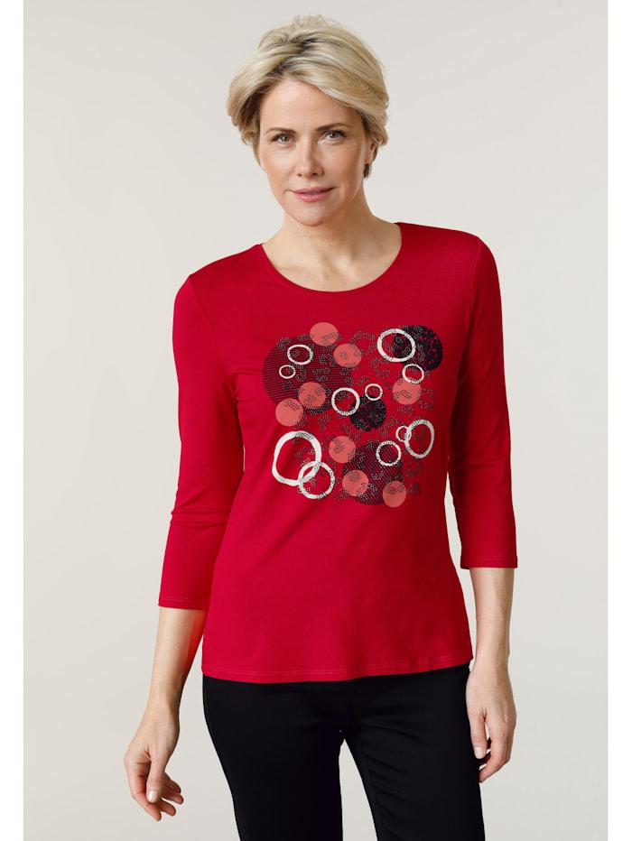 Barbara Lebek T-shirt en jersey, Rouge/Noir