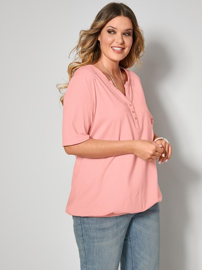 Janet & Joyce Shirt aus reiner Baumwolle, Rosé