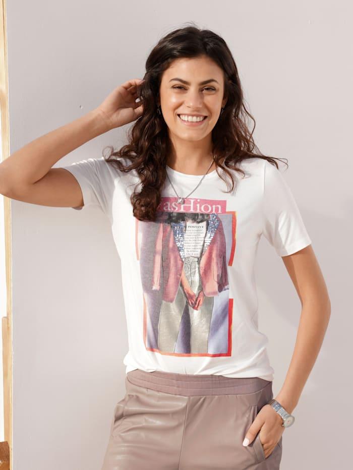 AMY VERMONT Shirt mit Motiv im Vorderteil, Weiß