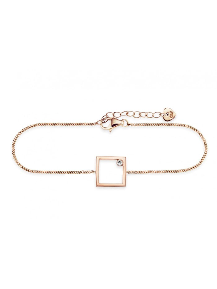 CAI Armband 925/- Sterling Silber Zirkonia weiß 16+3cm Glänzend, rot