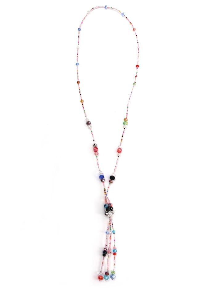 Collezione Alessandro Lange Kette Nanja mit facettierten Glasperlen, mehrfarbig