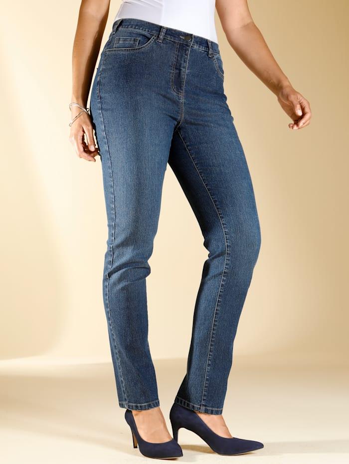 m. collection Jeans i bekväm modell, Blå