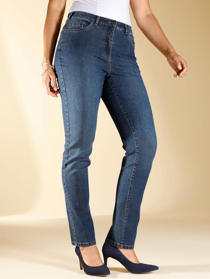 m. collection Jeans komfortabel geschnitten, Blau