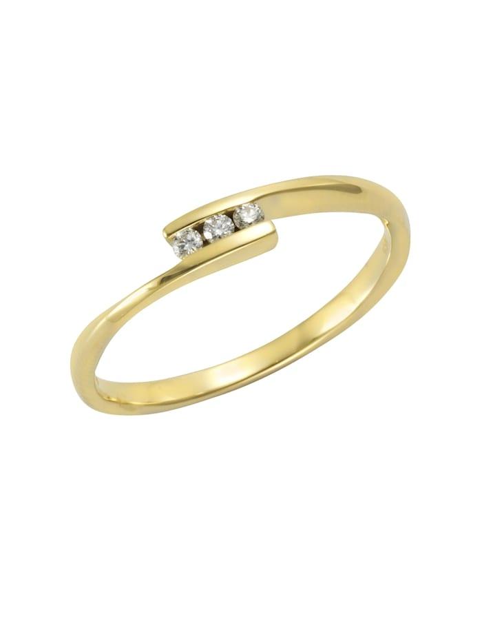 Orolino Ring 585/- Gold Brillant weiß Brillant Glänzend 0,06ct. 585/- Gold, gelb
