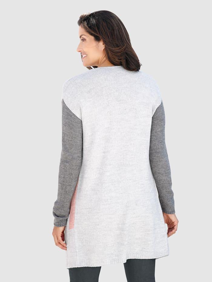 Vest met contrastkleurig dessin