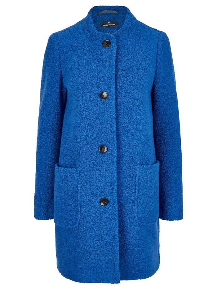 Daniel Hechter Trendiger Mantel in Teddyfell-Optik, satin blue
