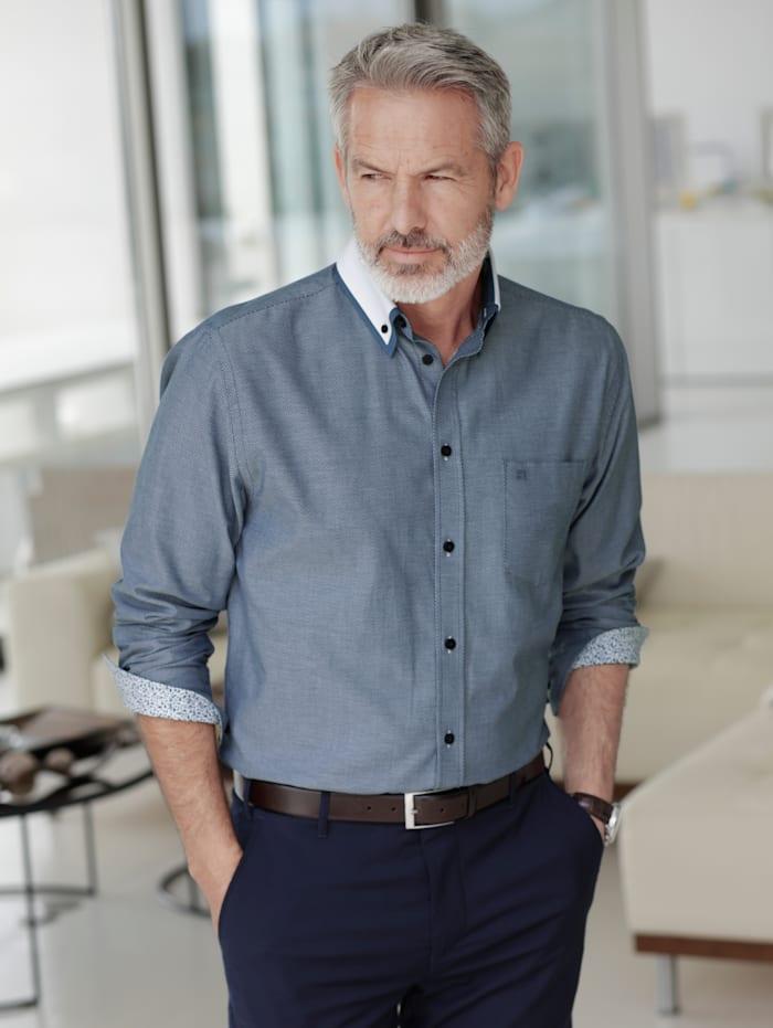 BABISTA Hemd in zweifarbiger Optik, Blau
