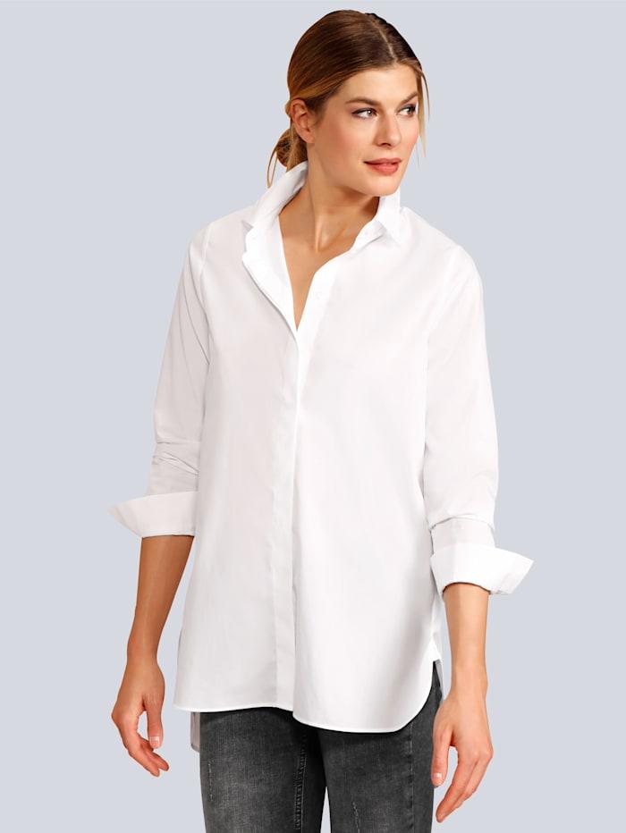Seidensticker Bluse im langen Stil, Weiß