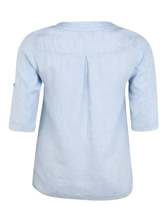 Bluse mit Reißverschluss-Ausschnitt