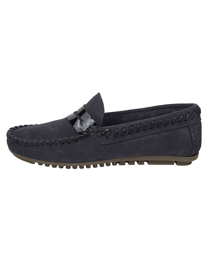 Moccasins made from leather and suede