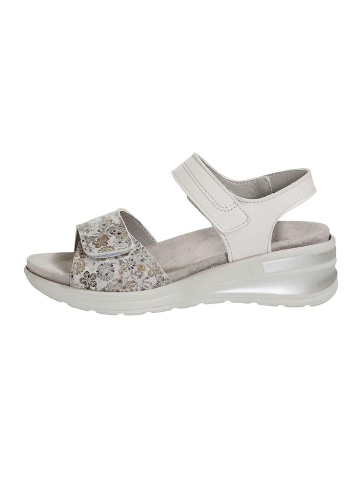 Sandále s módnou kvetinovou potlačou