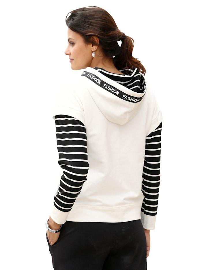 Sweatshirt met modieuze details