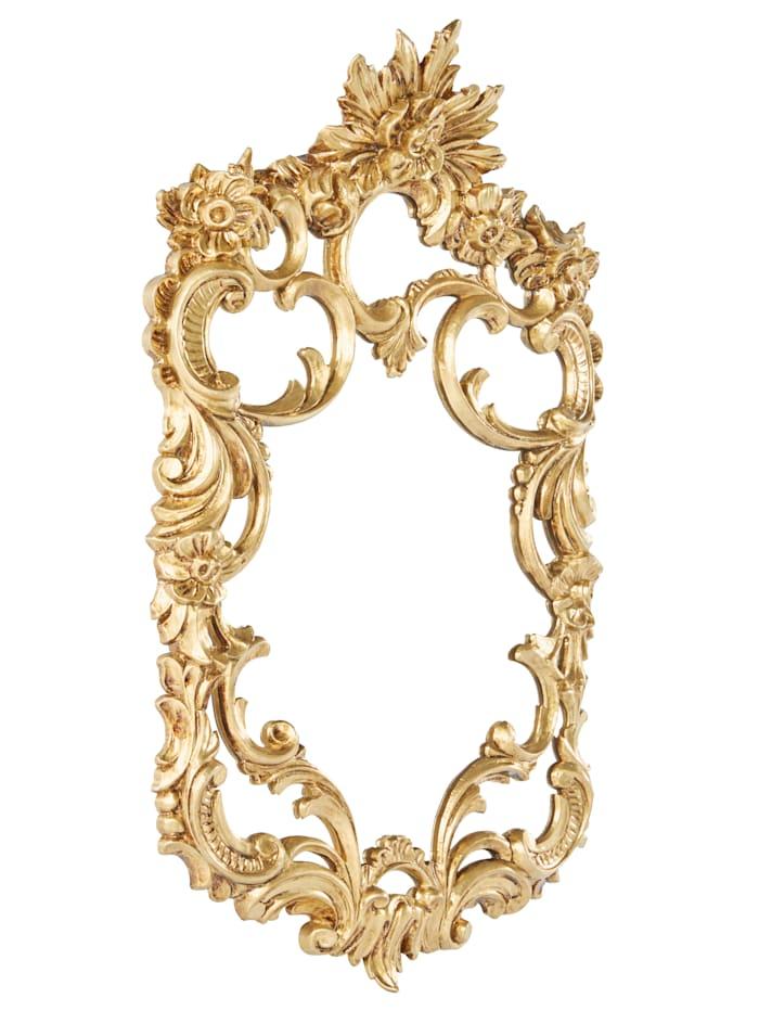Miroir mural, Coloré doré