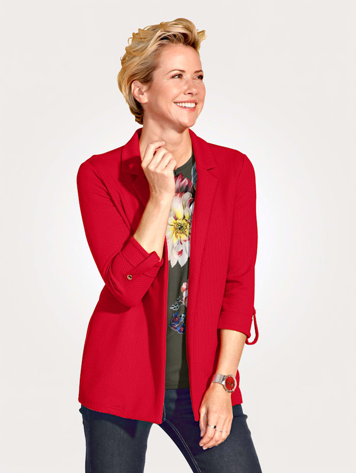 MONA Jacket in a textured fabric, Red
