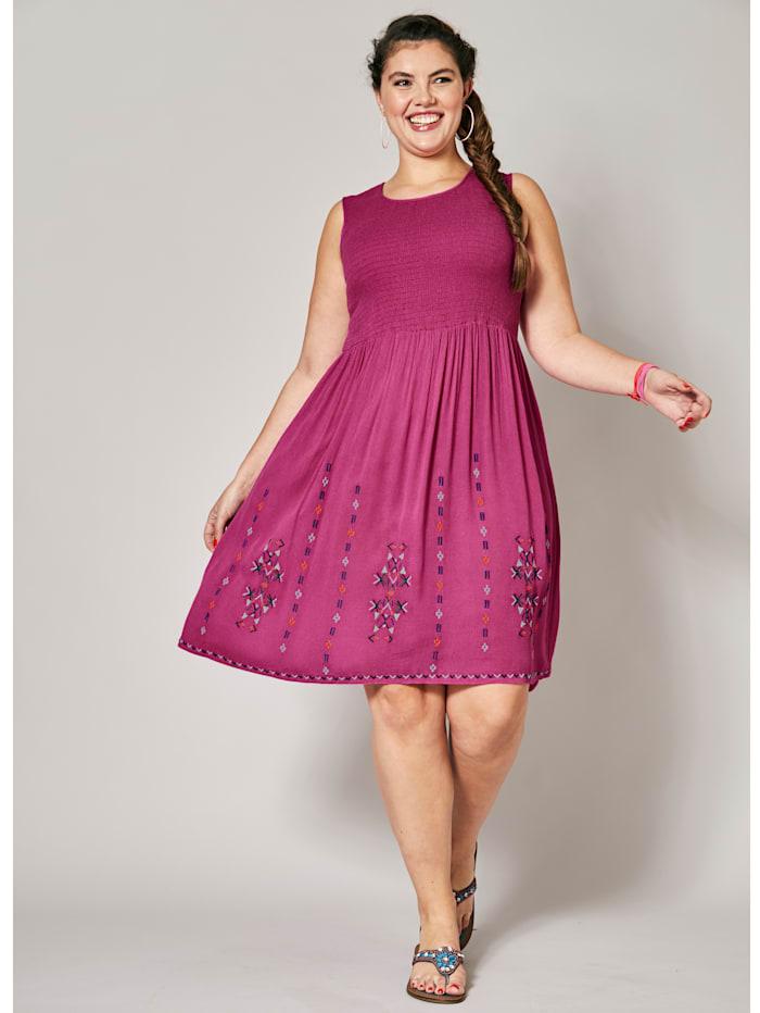 Angel of Style Kleid mit Stickerei, Pink