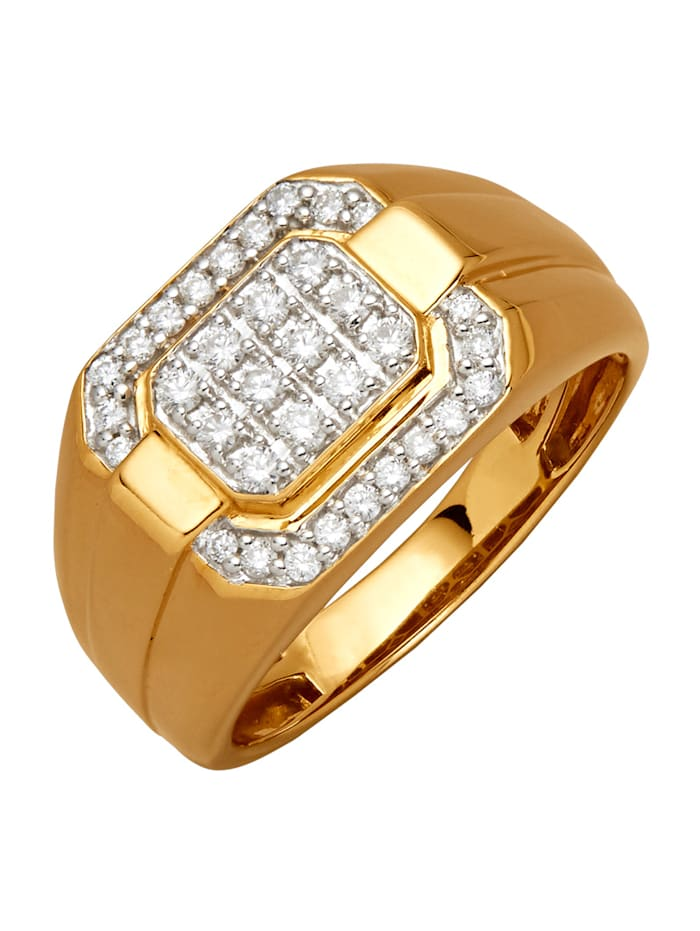 Amara Diamants Bague homme, Coloris or jaune