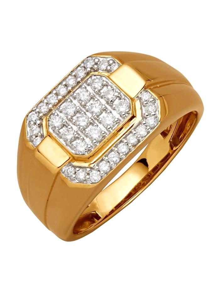 Diemer Diamant Herenring, Geelgoudkleur