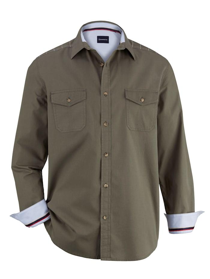 BABISTA Overhemd met washed effecten, Olijf