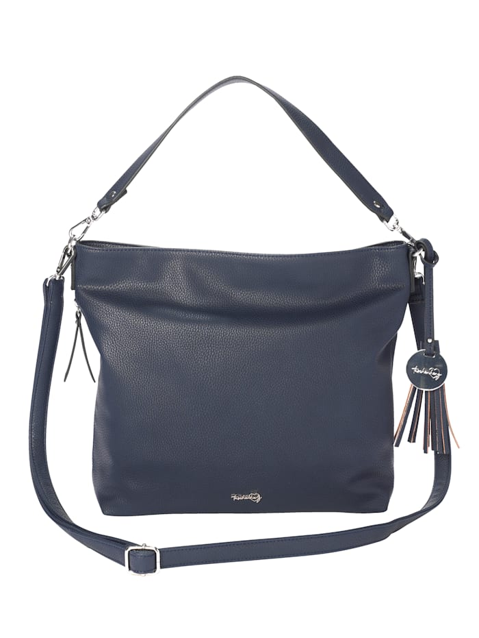 Taschenherz Handbag made from a premium-quality fabric, Navy