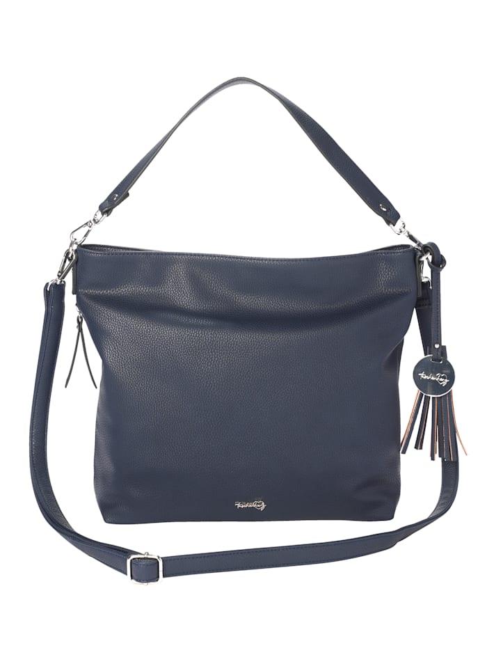 Taschenherz Väska av syntetmaterial i hög kvalitet, marinblå