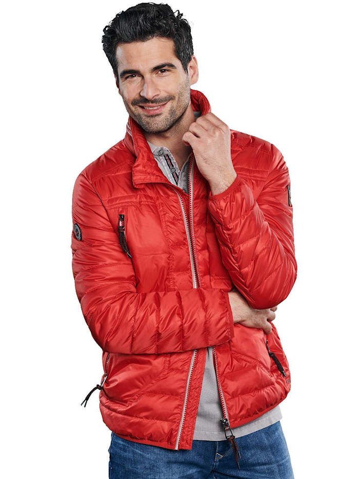 Engbers Funktionale Outdoor-Jacke in Trendfarbe, Weinrot