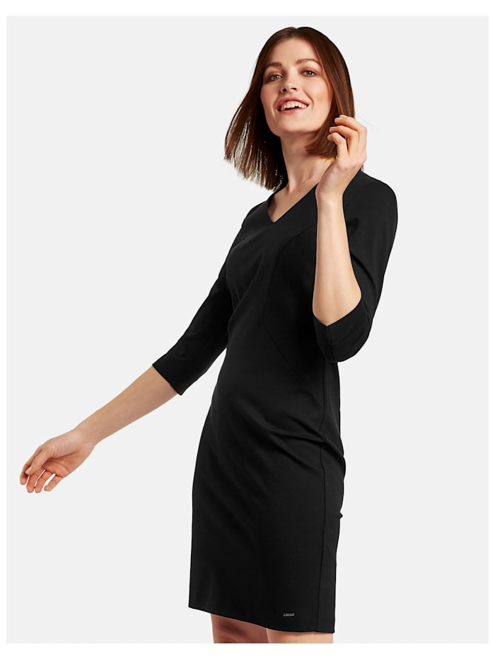 Taifun Figurbetontes Kleid mit 3/4 Arm, Black