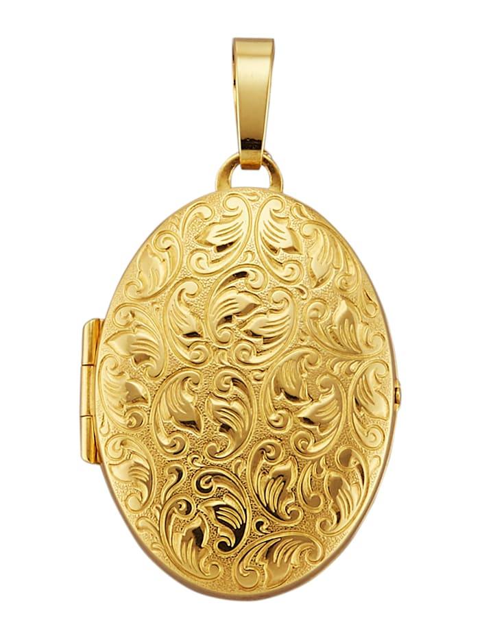 Diemer Highlights Medaillon-Anhänger in Gelbgold 585, Gelbgoldfarben