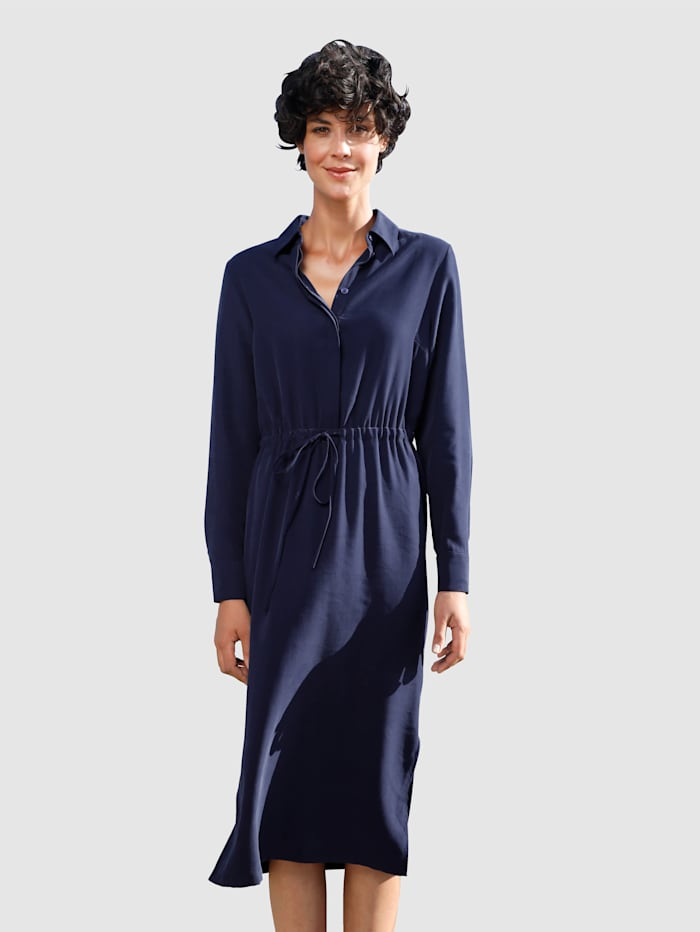 Dress In Kleid mit Hemdkragen, Marineblau