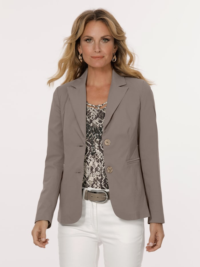 MONA Blazer in a timeless design, Taupe