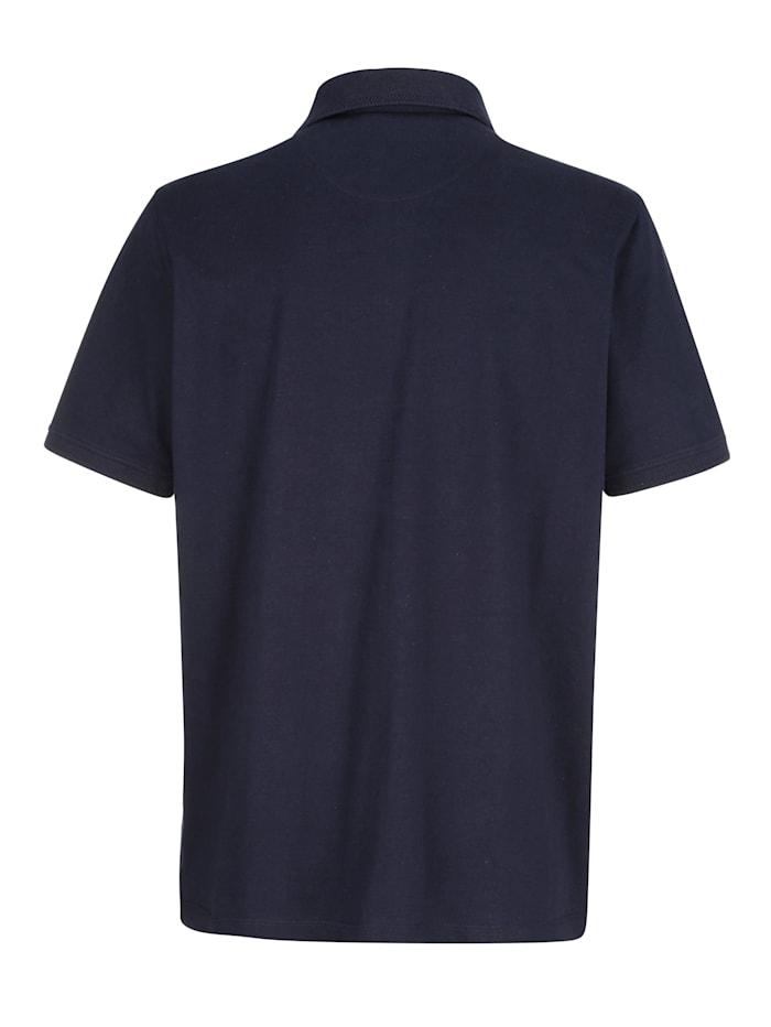Poloshirt met drukknoopsluiting