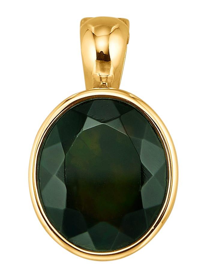 Diemer Farbstein Cliphanger met zwarte opaal, Zwart