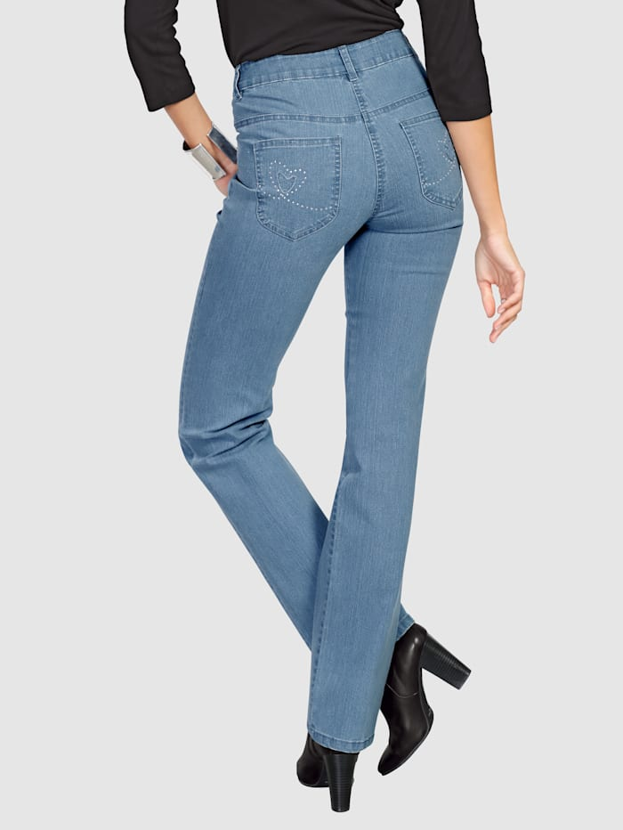 Dress In Jeans with rhinestones, Blue