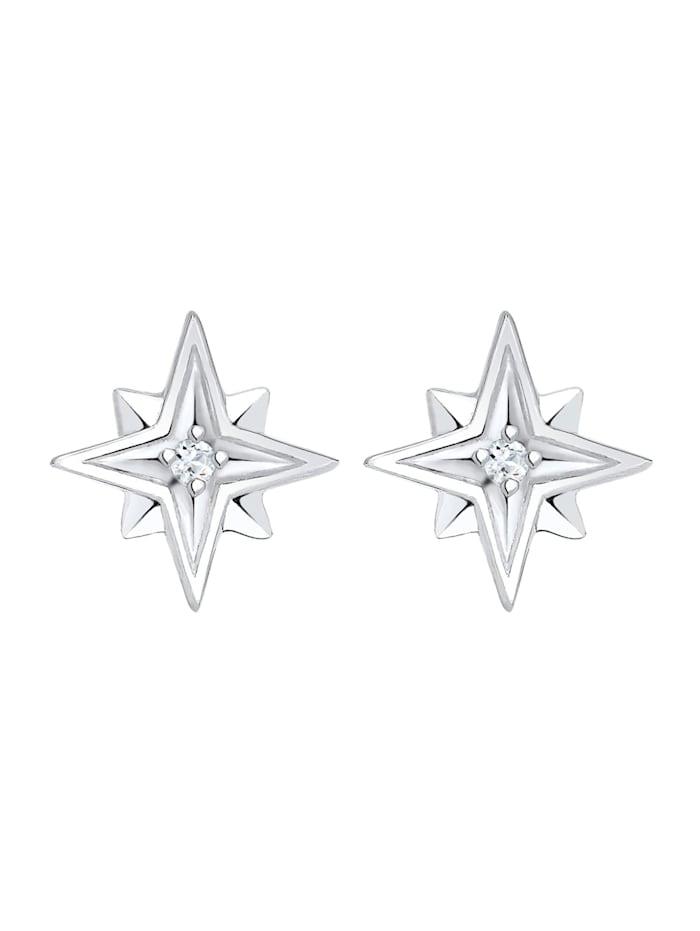 Ohrringe Sterne Astro Topas Edelstein 925 Sterling Silber
