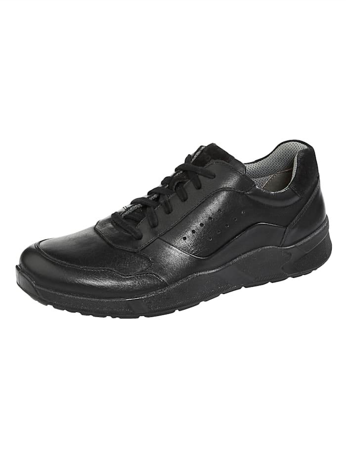 Jomos Šnurovacia obuv so štýlovou podrážkou, Čierna