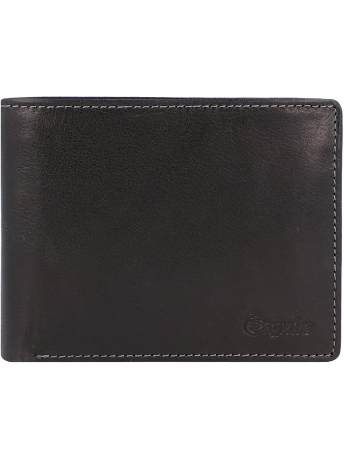 Esquire Denver Geldbörse RFID Leder 12 cm, schwarz