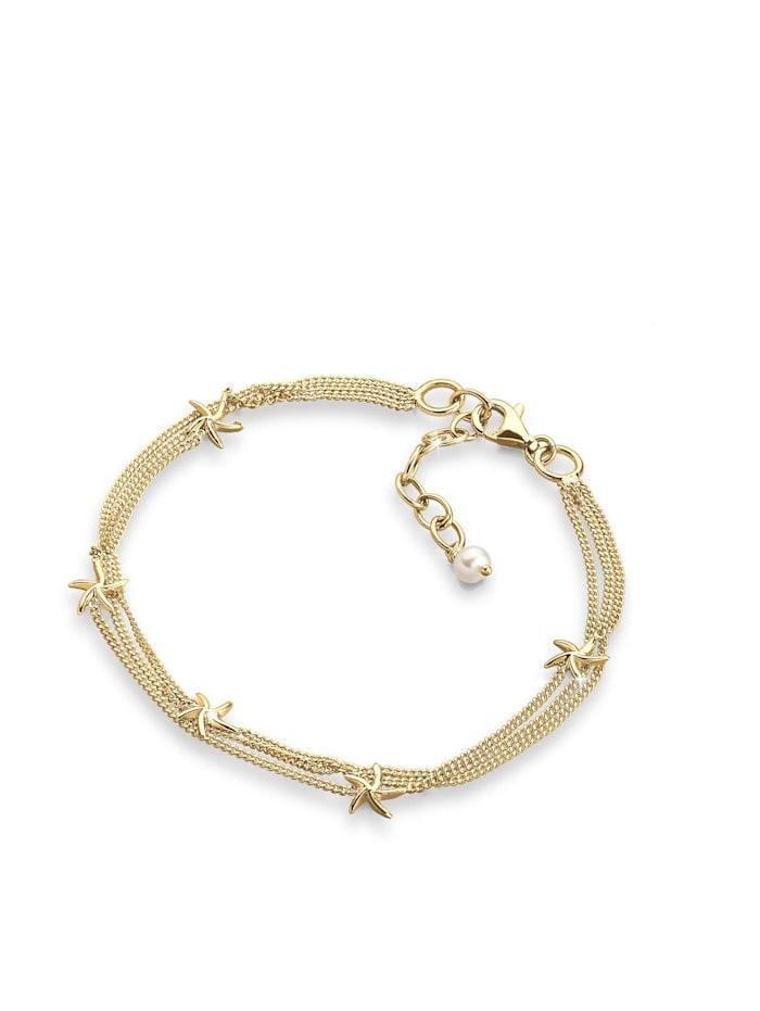 Elli Armband Seestern 925 Sterling Silber, Weiß