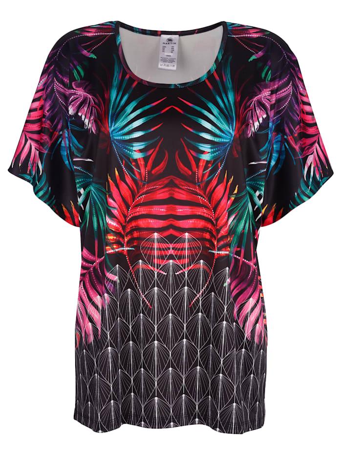 Strandshirt im modischen Mustermix