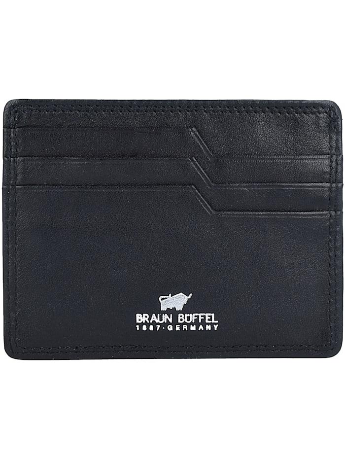 Braun Büffel Golf Kreditkartenetui RFID Leder 10,5 cm, schwarz