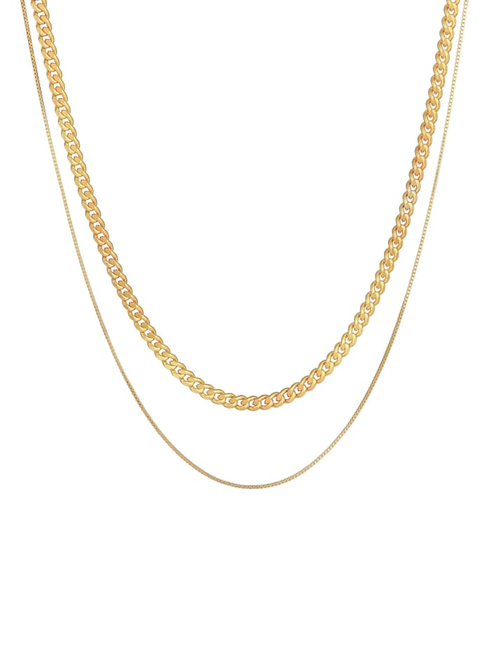 Halskette Herren Ketten Set Panzer Venezia 925 Silber