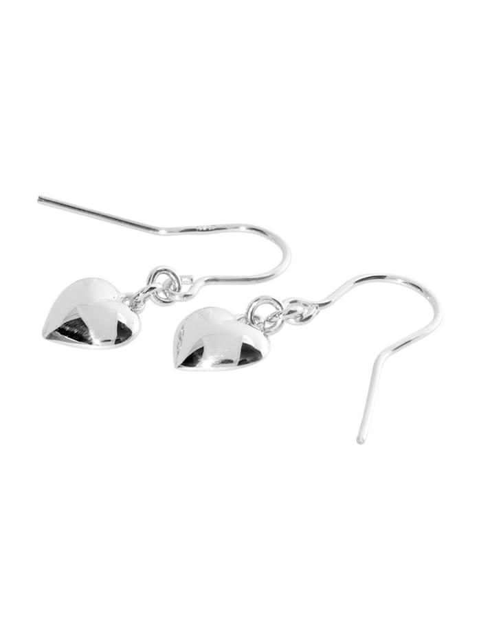 Ohrhänger - Herz 9 mm - Silber 925/000 - ,