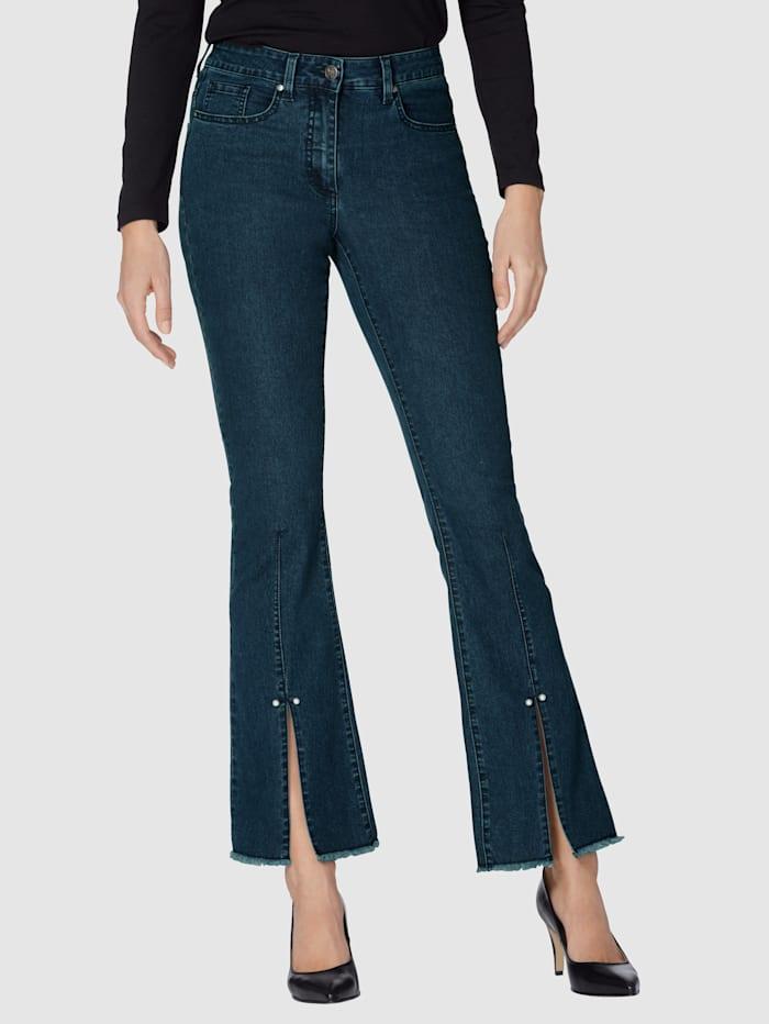 AMY VERMONT Jeans mit Schlitz am Saum, Blue stone